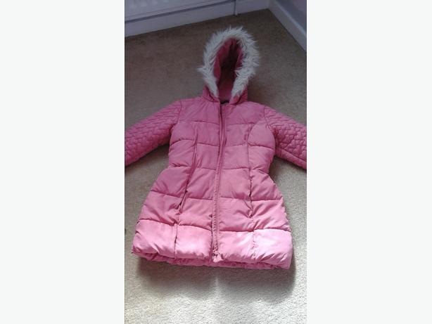 Girls winter padded coat age 10-11 years