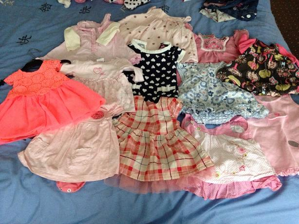 job lot on 0-3 dresses