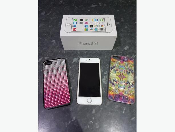 iphone 5s white/silver immaculate...