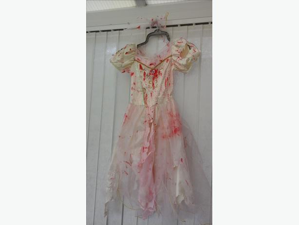 Zombie Bride Halloween Dress Up age 7-8 years