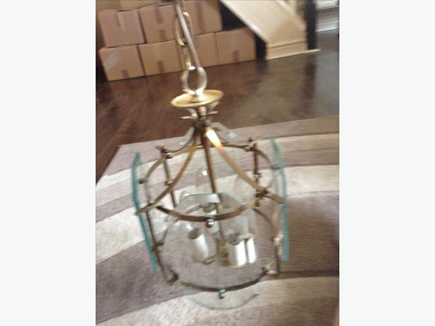 Two matching chandeliers for sale