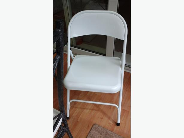 White Metal Desk Chair