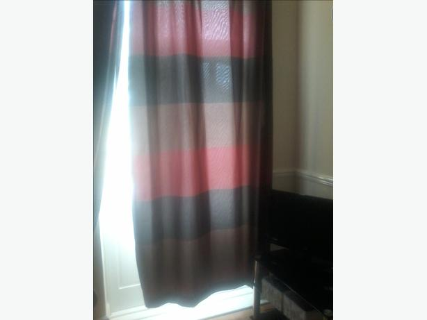 pair of fully lined long next curtains