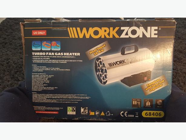 work zone   gas fan heater