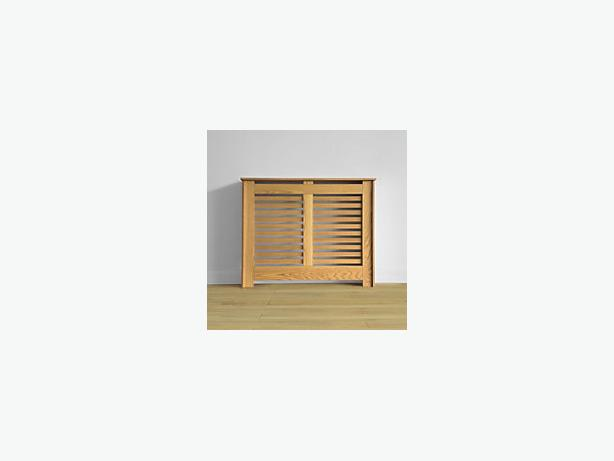 Homebase oak effect radiator cabinet