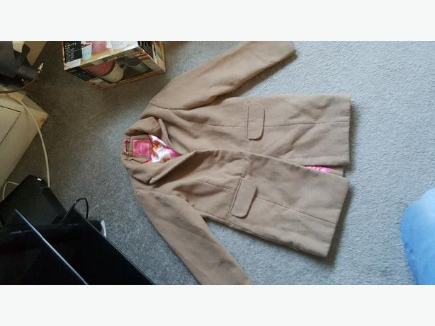 next girls brown coat 5 to 6 years