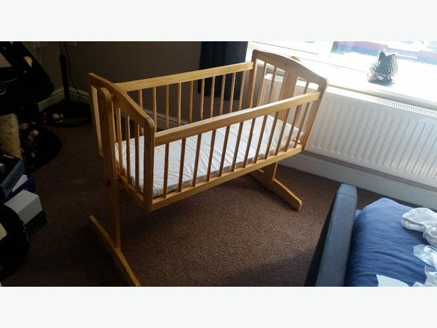 Wooden Crib with mattress. Like new