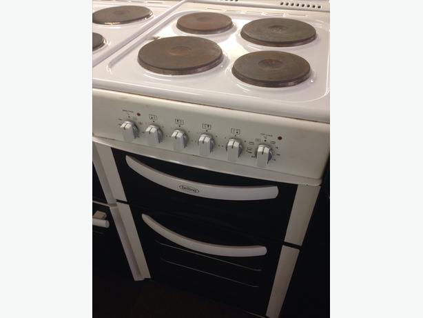 BELLING DOUBLE OVEN ELECTRIC COOKER PLATED TOP 50CM..