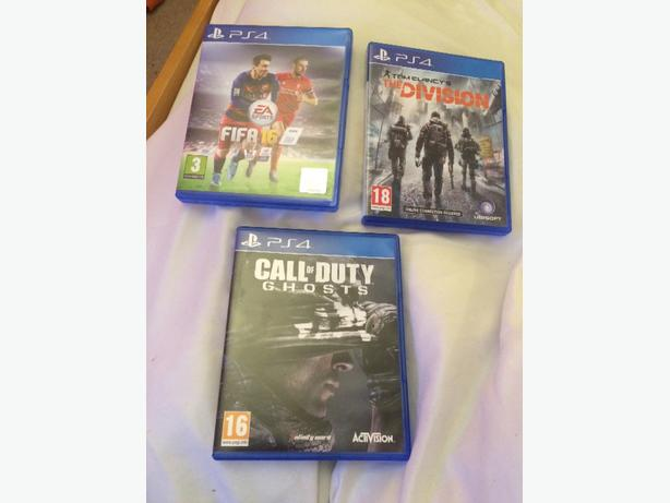Fifa 16, The divison and COD ghosts