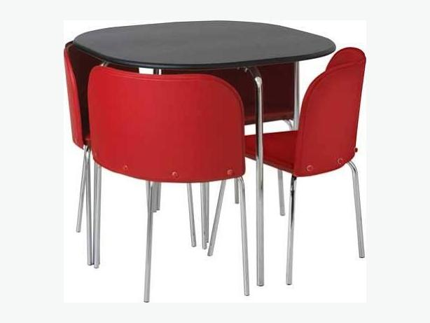 Hygena Amparo Dining Table and 4 Chairs BlackRed  : 105890963614 from www.useddudley.co.uk size 614 x 461 jpeg 19kB