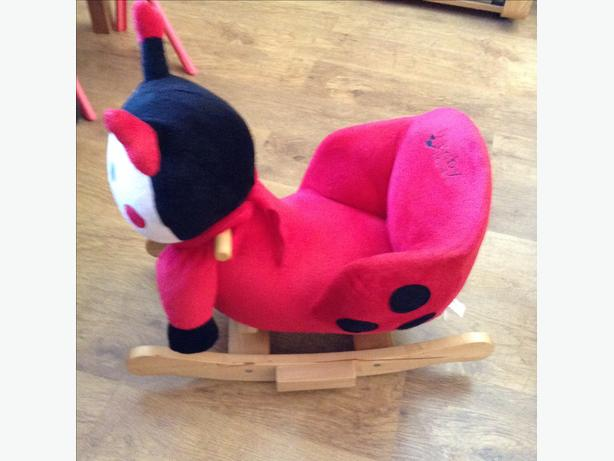 Baby Weavers sit on ladybird rocker
