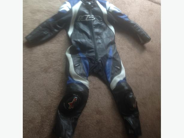 motorbike suit and boots