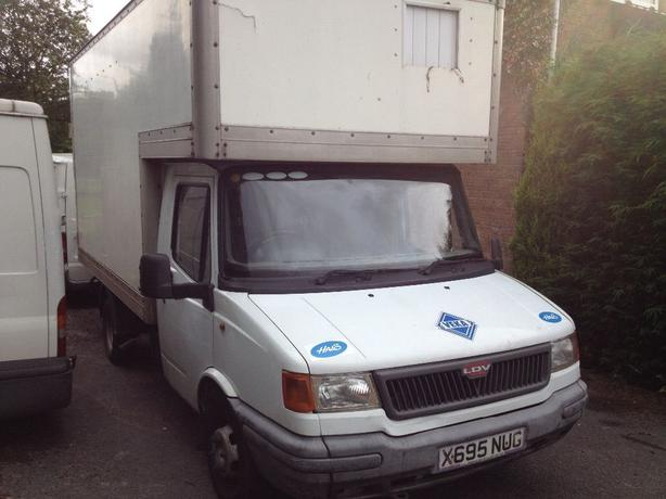 ldv luton van with transit running gear