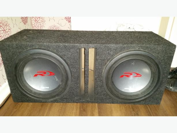 2 x alpine 12 inch in box