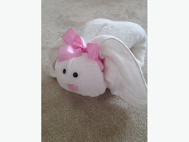 Hooded Towel Bathtime Bunny Baby Shower Gift