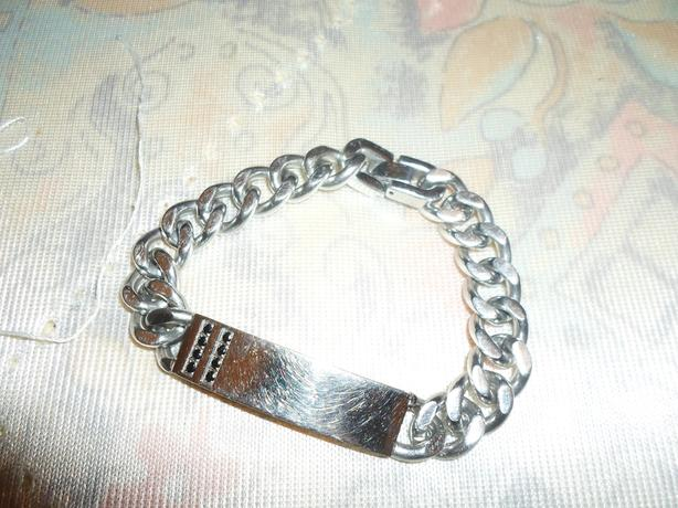 thick silver bracelet 20ono