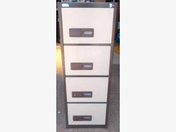 4 Draw Filing Cabinet Brown / Beige – Collection Only