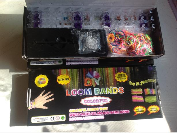 BNIB BULK JOB LOT BOXES LOOM BANDS SETS