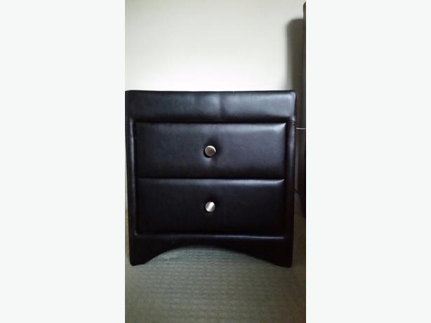 two bedside table real leather