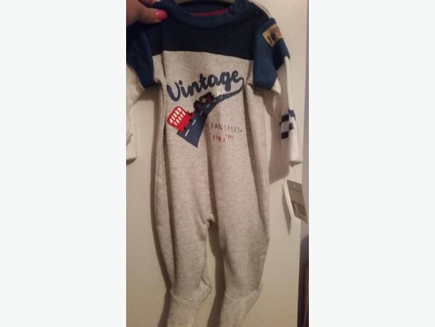 BNWT baby boy mothercare sleepsuit