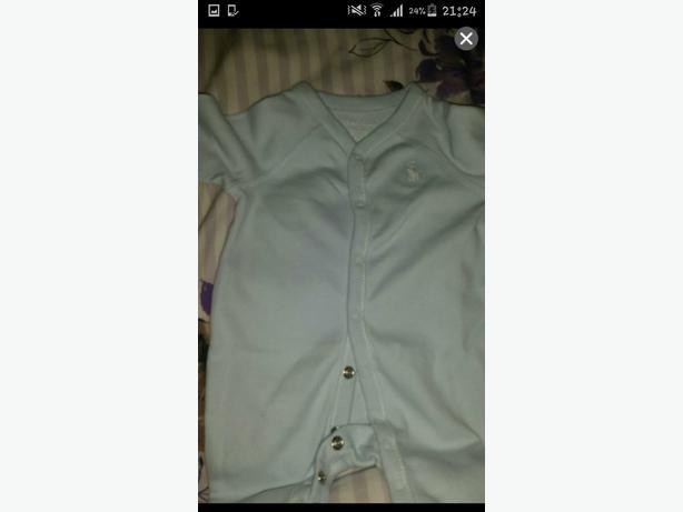 baby boy ralph lauren sleepsuit