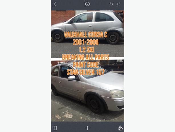 VAUXHALL CORSA C BREAKING ALL PARTS SPARES NOT TWINPORT Z1XE