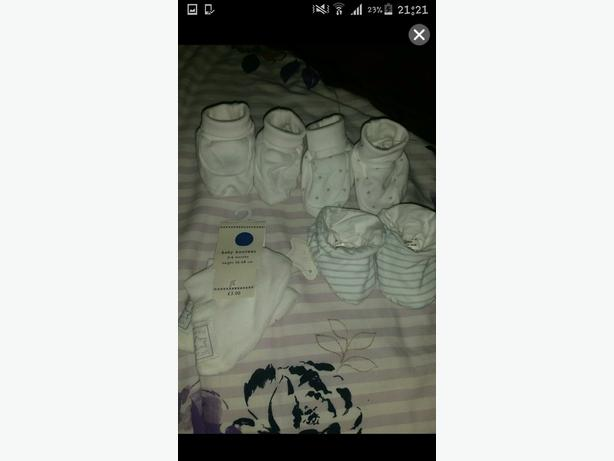 4 bnwt baby booties