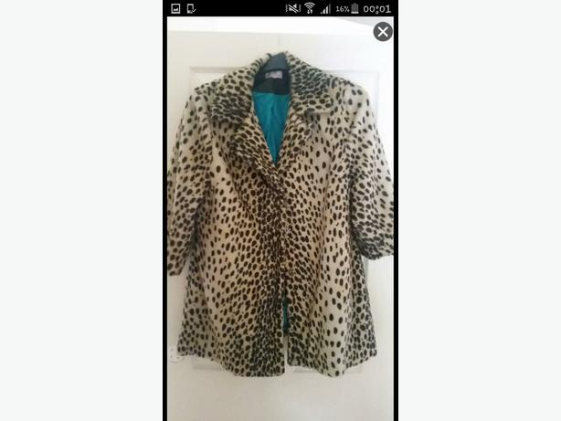ladies leopard print coat
