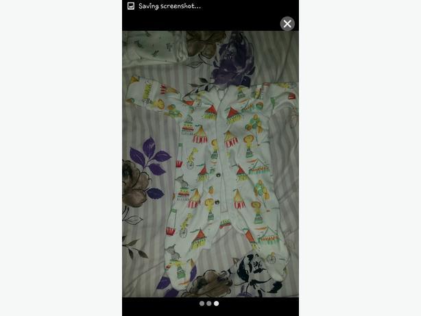 6 baby next sleepsuits