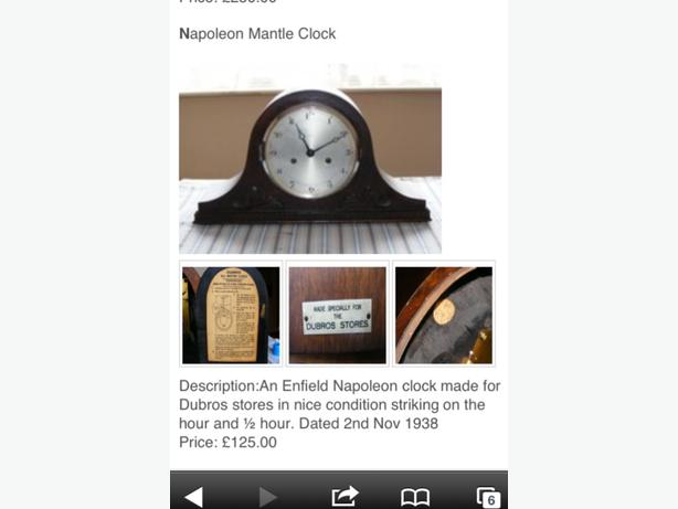 NAPOLEON MANTLE CLOCK