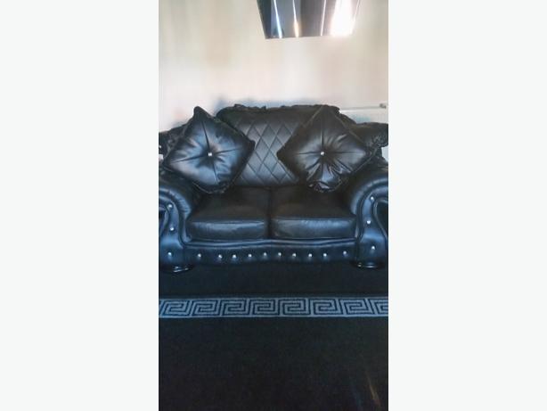 Italian leather settee,