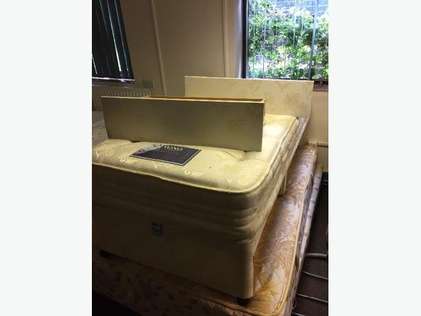 single devane bed and base with 2 draws