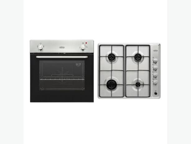 Belling Oven Pack single oven pack and gas hob Stainless Steel