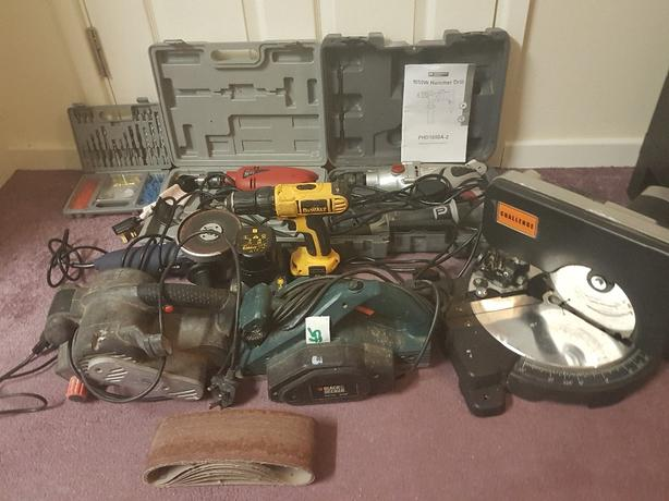 bargain joblot of electrical power tools