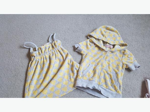juicy couture bath dress and coat age 2 to 3.