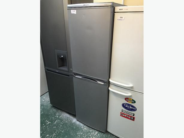 💎💎 nice hotpoint silver fridgefreezer free delivery