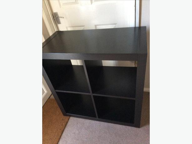 Ikea kallax shelving unit in black walsall sandwell - Mobile kallax ikea ...