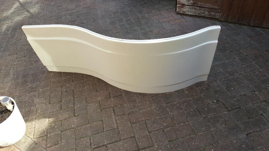 1500mm p shaped bath with bath panel and shower screen ...