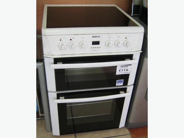 Beko 60cm Electric Cooker with Ceramic Hob - Clearance Item with Warranty
