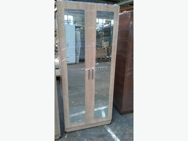 DOUBLE DOOR MIRRORED WARDROBE
