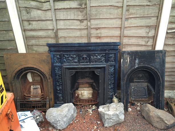 3 x wrought iron fires places