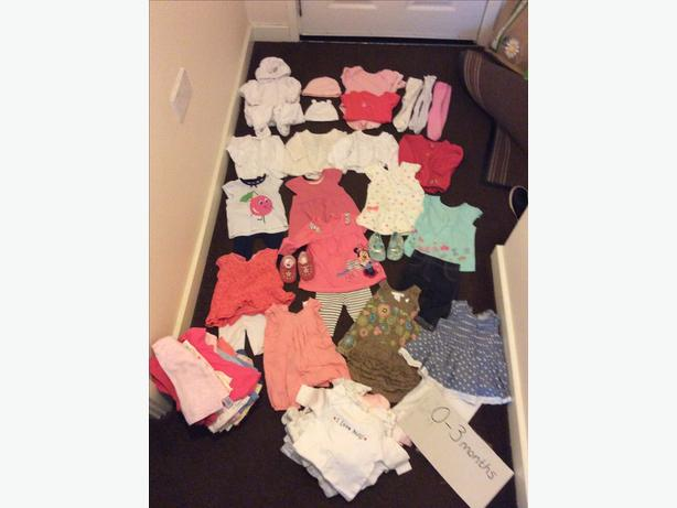 Large collection of excellent condition 0-3months girls clothes