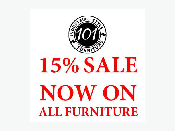 15% SALE ON INDUSTRIAL STYLE FURNITURE