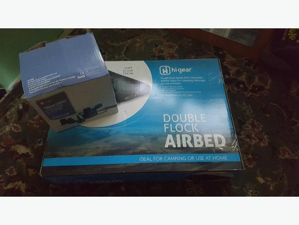 Double air bed and pump