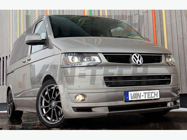 VW T5 Van ABT Style Front Lower Bumper Spoiler / Splitter 2010 –