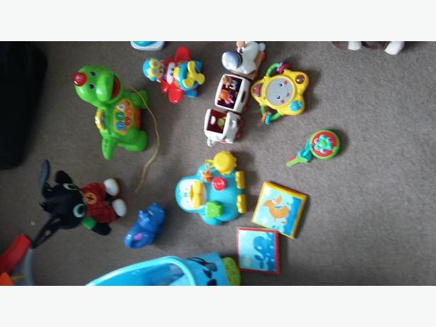selection of baby toys 0-12months
