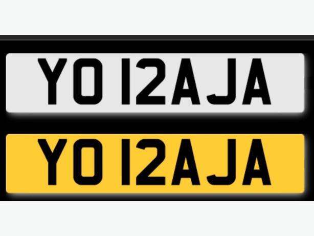 YO RAJA number plate