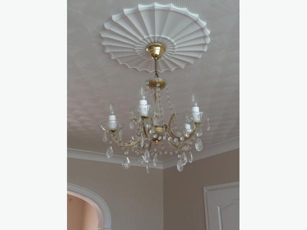 2 chandeliers and 2wall lights