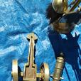 Solid brass cannon 1812  & fire place companion set