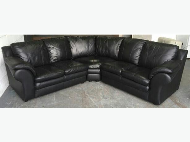 £1800 DFS Large Black Corner Sofa. WE DELIVER Smethwick